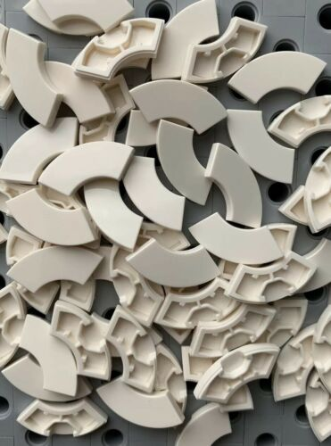Lego White 2x2 Tile With Bow New Lot Of 20pcs 1//4 Circle Tiles