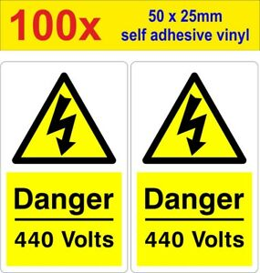 100 Danger 440 Volt Mains Voltage Electrical Warning