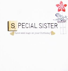 Image Is Loading Sister Birthday Bexyboo Scrabbley Neon Card Handmade