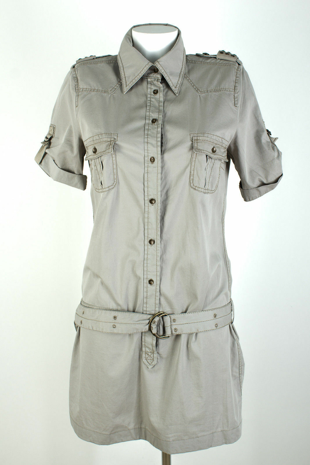 Drykorn for beautiful people Hemdkleid Gr. 4   DE 36 Baumwolle Sommer Mini Kleid