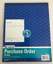 Adams DC8131 Purchase Order Book Carbonless 2-Part 8-3//8x10-11//16 WE