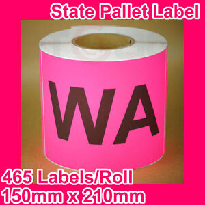 10-Rolls-of-State-Label-Pallet-Label-WA-150mm-x-210mm-4650-Labels-in-total