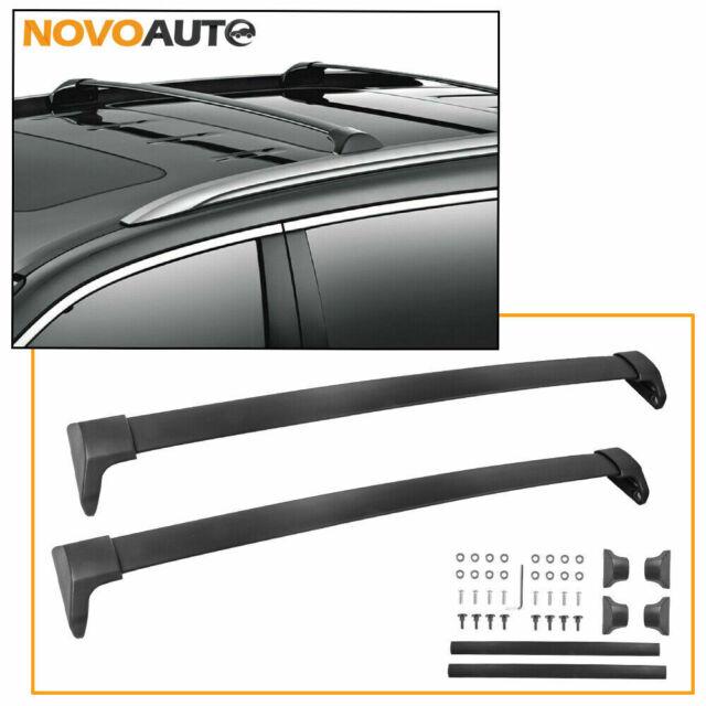 Fit 14-18 Acura MDX Pair Aluminum Roof Top Rail Cross Bar