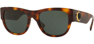 Versace Black Medusa Ares Men's Havana Square Sunglasses - VE4359 521771 - Italy