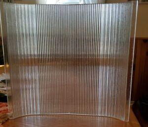 VINTAGE INDUSTRIEL HOLOPHANE verre Abat-jour 12 7/8 × 12 x1/4 épais