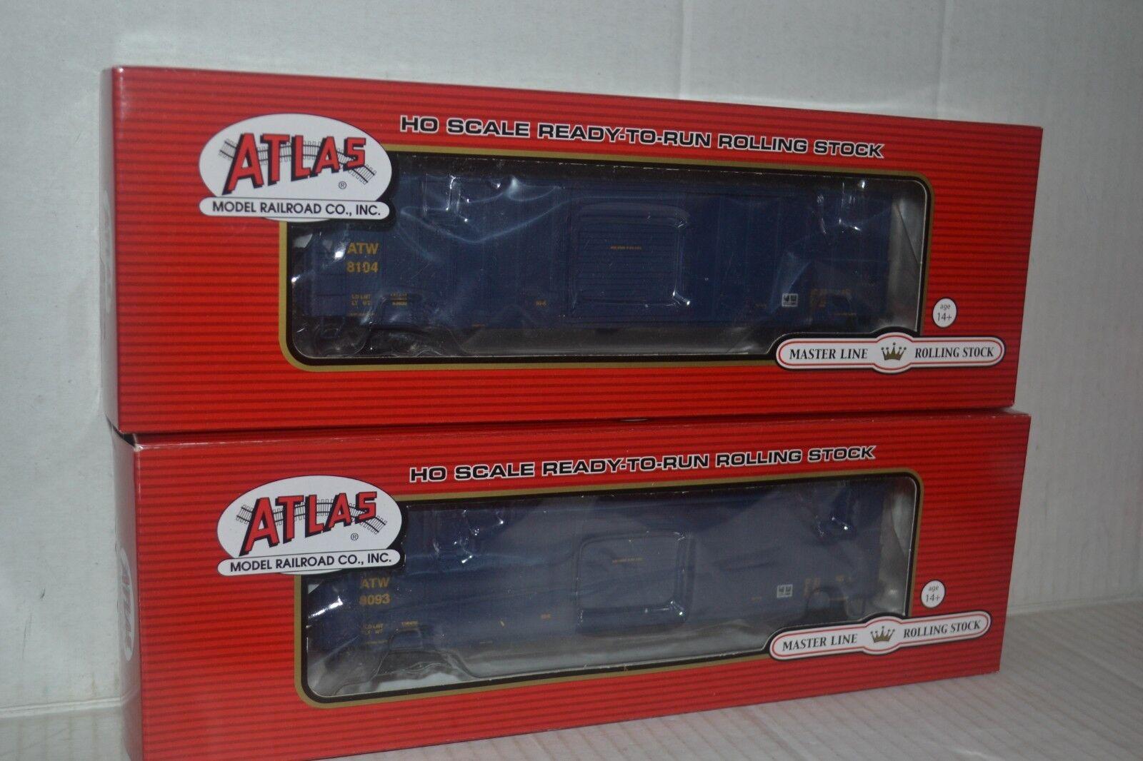 2 Atlas Atlantic & Western 50' Precision Design scatola auto Ho Scale 20001979, 1980