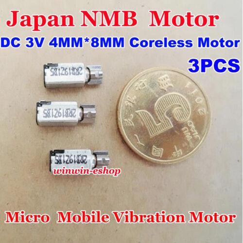 3PCS DC 1.5V-3V 4mm*8mm Japan NMB Micro Mini Coreless Vibration Vibrating Motor