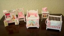 1/12TH SCALE OOAK SHABBY CHIC BEATRIX POTTER NURSERY SET BY CHRISCHELL