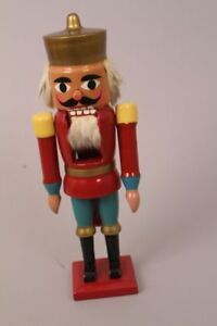 Nussknacker-Husar-Soldat-Erzgebirge-Weihnachten-Dekoration-Holz-rot-Uniform