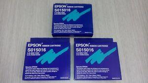 Kit-3-nastro-originale-EPSON-S015016-nylon-nero-stampante-aghi-LQ680-860-1060