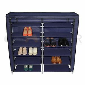 Image Is Loading 6 Tiers 12 Lattices Shoe Rack Shelf Storage