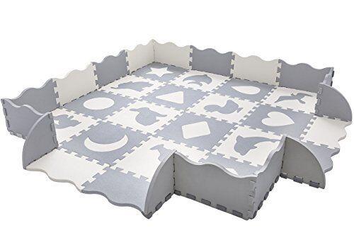 Baby Play Mat with Fence Interlocking Foam Floor Tiles Toddler Kids
