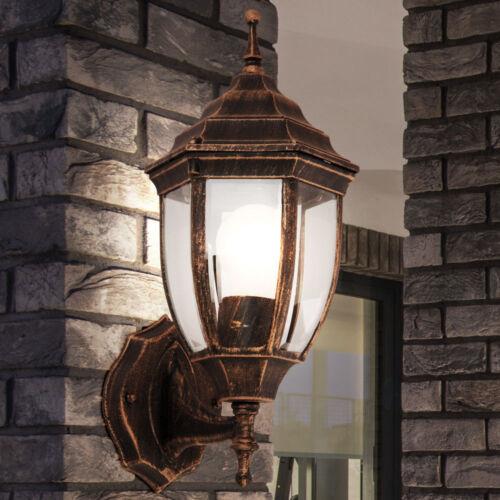 LED ALU Wand Laterne schwarz gold RGB Fernbedienung Fassaden Außen Lampe dimmbar