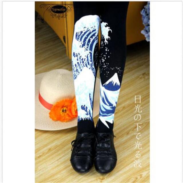 Girls Big Waves Tight Stockings Socks Harajuku Spindrift Pantyhose New
