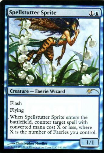 Spellstutter Sprite ENG FOIL WIZARD MTG MAGIC PROMO Folletta Balbettamagie