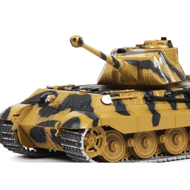 1 32 Scale Tiger Heavy Tank Metal Armored Camouflage Main BattleTank Car Model