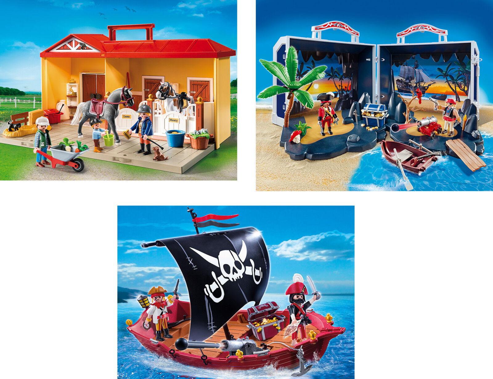 Playmobil-équestre, Vitrine-Ware, 5348 + 5348 et 5298