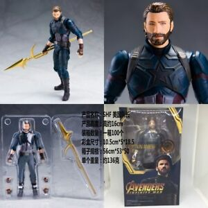 S-H-Figuarts-SHF-Avengers-Infinity-War-Captain-America-6-039-039-PVC-Figure-With-Box