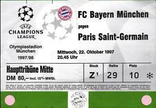 Ticket EC I 97/98 Bayern München - Paris Saint-Germain, 22.10.1997