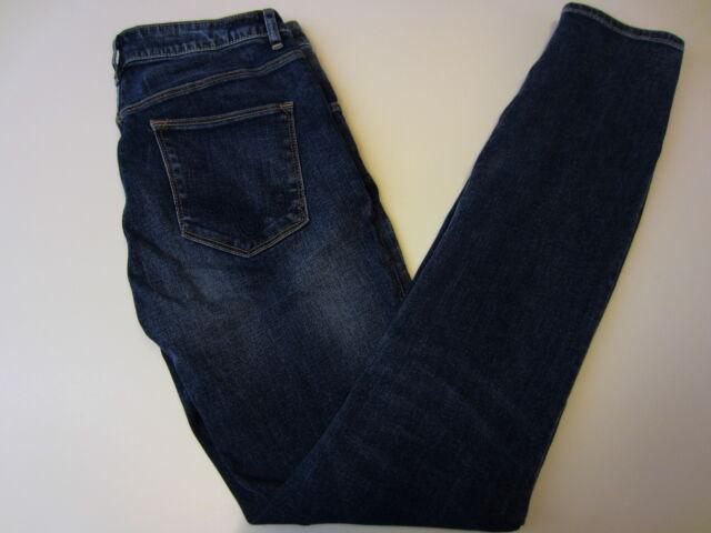WeSC Lizzy  5 pocket Ladies Jean Soft Pale Blue Size 26 Long Curly Pocket Stitch