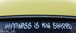 Happiness-Is-Mini-Shaped-Sticker-Austin-Rover-BMW-Classic-Clubman-Pick-Up