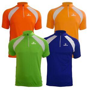Mens-Top-Cycling-Short-Sleeve-Bike-Shirts-breathable-hi-viz-cycle-jerseys-UK