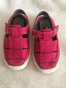 Tommy-Hilfiger-Toddler-Shoes-Sandals-size-6-1-2-Red-Color