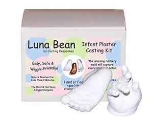 Luna Bean BABY PLASTER CASTING KIT 3D Statue Keepsake Foot Hand Mold w// Finish