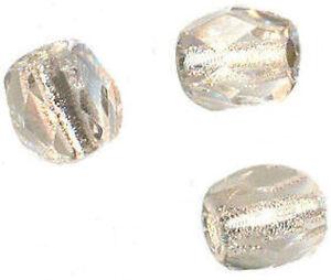 ** 100 Perles Facettes De Boheme 3 Mm Crystal Silver Lined Preciosa ** Design Moderne
