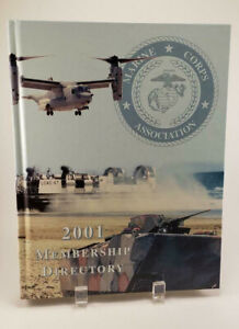 2001-Marine-Corps-Association-Membership-Directory-Hardback-Book