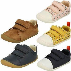 69248517175fb Image is loading Childrens-Boys-Girls-Clarks-Pre-Walking-Shoes-Roamer-