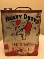 VINTAGE 2 GALLON HEAVY DUTY RECLAIMED MOTOR OIL CAN