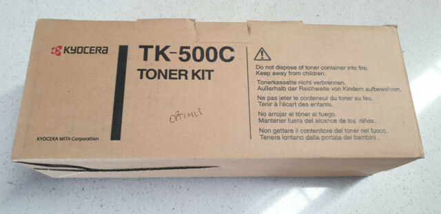 Genuine Kyocera TK 500C Cyan Toner, Brand New See Photos