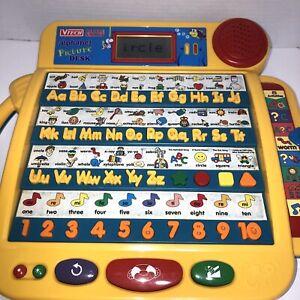VTech LITTLE SMART Talking Alphabet PICTURE Desk Learning Vintage EDU item #231
