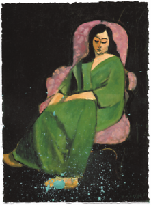 HENRI-MATISSE-LAURETTE-GREEN-ROBE-HAND-FINISHED-IN-PAINT-LIMITED-EDITION-PRINT