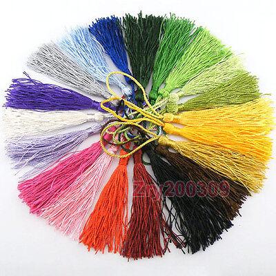 20Pcs Silky TASSEL Curtain Drapery Deco Garment Bookmark DIY 20Color-1 Or Mixed