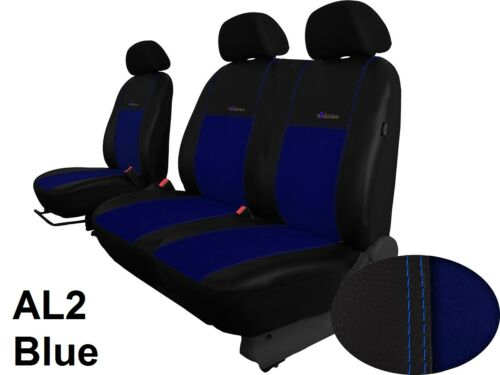 RENAULT TRAFIC 2001-2014 ECO LEATHER /& ALICANTE 2+1 SEAT COVERS MADE TO MEASURE