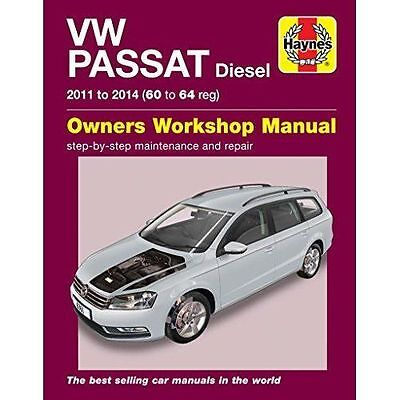 VOLKSWAGEN Passat Riparazione Manuale Haynes Manuale Officina Manuale 2011-2014