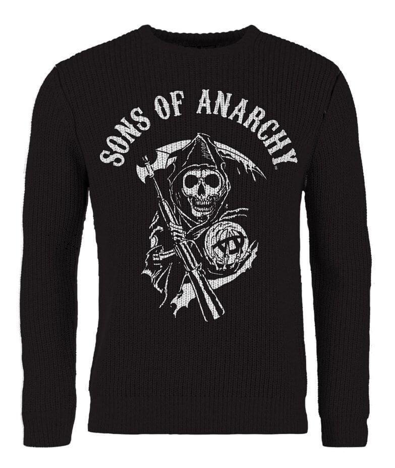 Unisex Official Sons Of Anarchy Skull Reaper Jumper Sweatshirt Ultrakult Ultrakult Ultrakult 54e107
