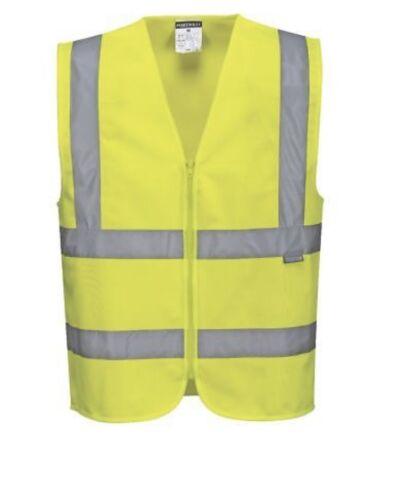 Taille L//XL Bnwt Portwest jaune HI VIS Vestes deux Bande Débardeur