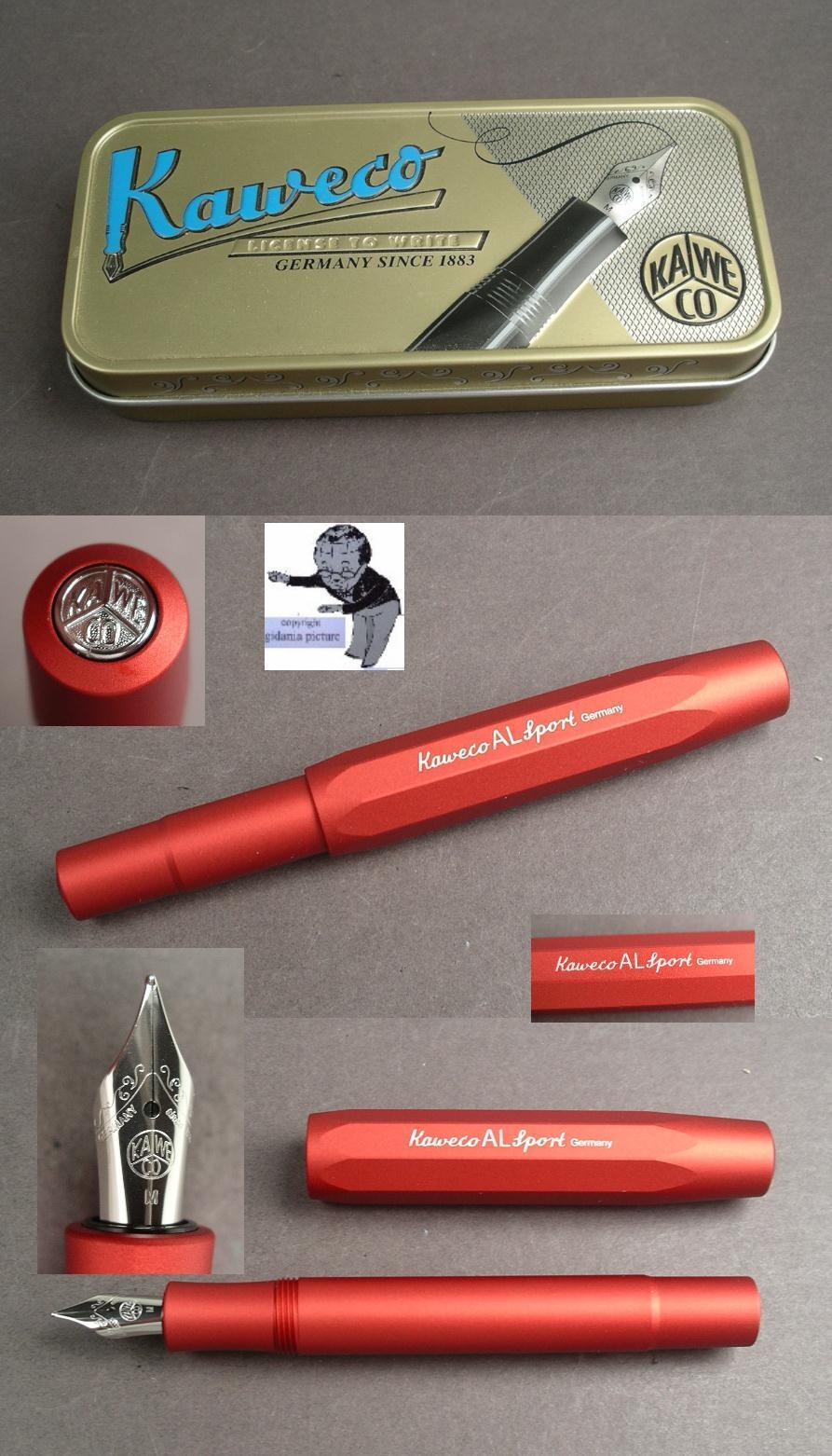 Kaweco Al Sport Penna Stilografica in Alluminio in Deep Rosso Rosso Rosso   3f6199