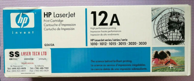 NEW and SEALED Genuine Original HP 12A Q2612A Black Toner Cartridge Laserjet