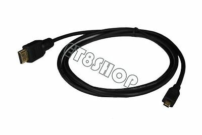Hot 10FT Micro HDMI TO HDMI HD TV Video Cable For Asus Memo Pad FHD 10 ME302C-A1
