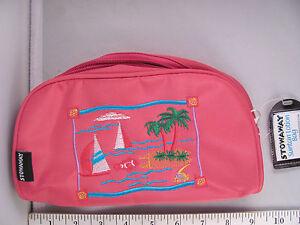 Image Is Loading Nwt Stowaway Cute Pink Zippered Suntan Lotion Beach