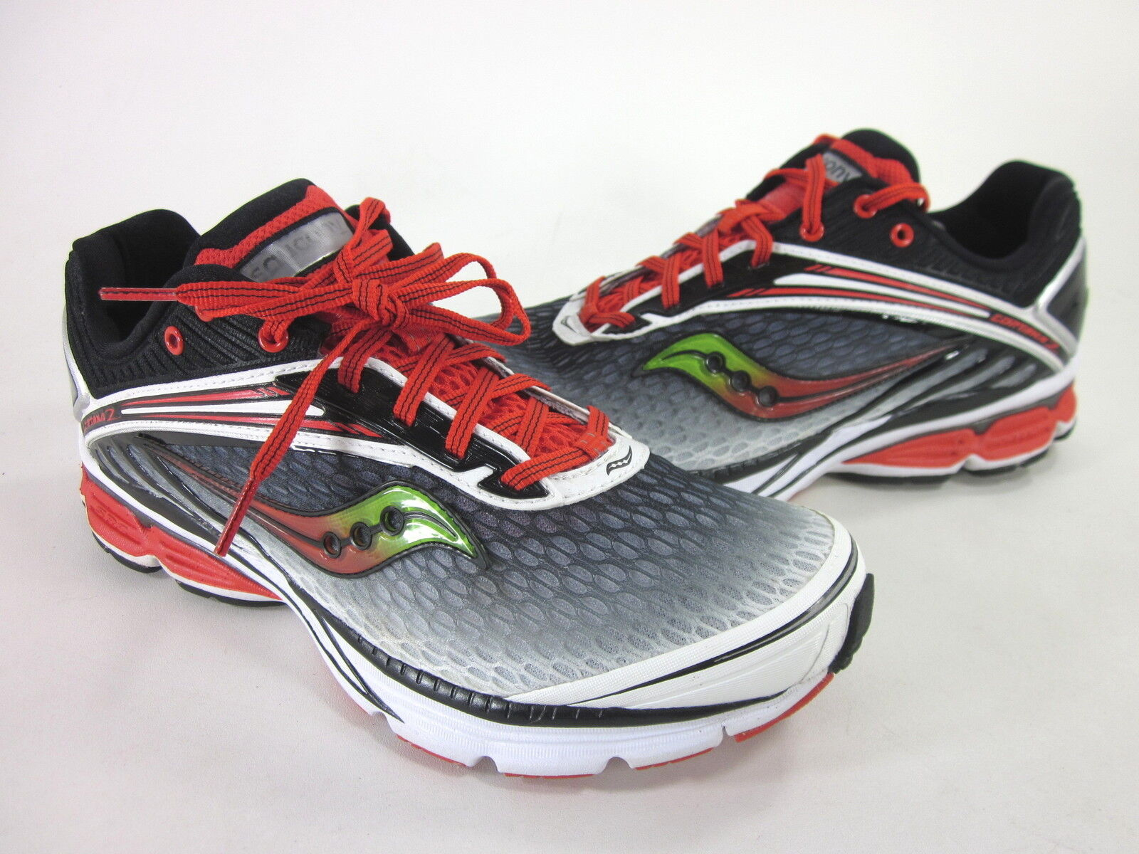 SAUCONY MEN'S CORTANA 2 RUNNING SHOE BLACK WHITE RED SYNTHETIC US SIZE 9 M