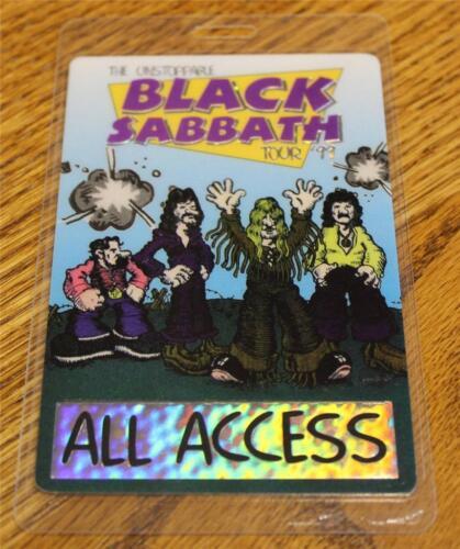Vintage & Genuine Black Sabbath Unstoppable PERRI FOIL Laminated Backstage Pass