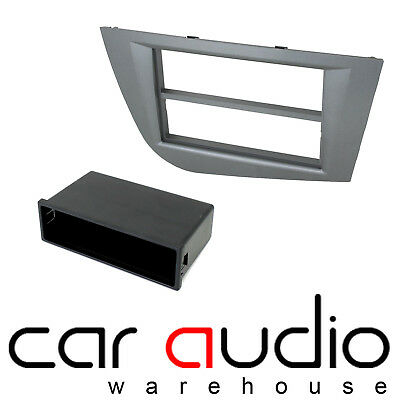 FP-18-02//DG Seat Leon 2005-2012 Car Stereo Single Din Fascia Panel Dark Grey