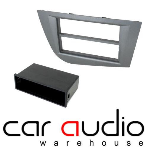 FP-18-02//DG Seat Leon 2005-2012 Car Stereo Single Din Fascia Panel Dark Grey