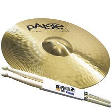 """PAISTE 101 Brass 16"""" Crash Becken + 5A Keepdrum Drumsticks"""