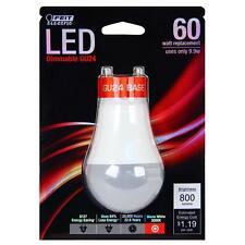 2 PK FEIT  Electric LED GU24 Base A19  Warm White 3000k 9.9 Watt = 60w Dimmable